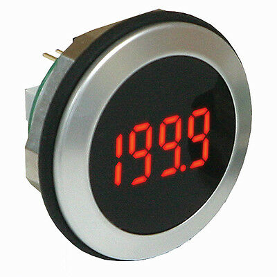 Lascar Digital Panel Voltmeter DC, LED display 3.5-Digits ±1 %, 32.5mm Dia.
