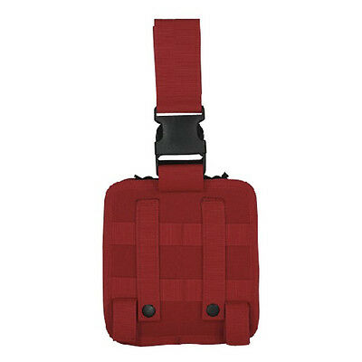 """Voodoo Tactical 15-002016000 Red 7""""L x 3""""W x 7""""H Drop Leg First Aid Pouch"""