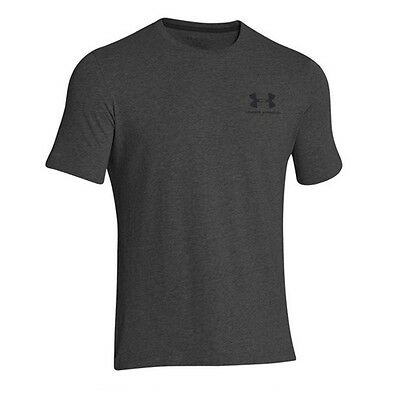 Under Armour 1257616 Men's Carbon Sportstyle Left Chese Logo Tee - Size Large