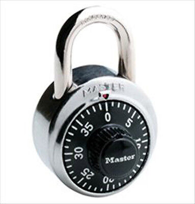 NEW Master Lock 1525 Hardened Steel Shackle Dial Combination Padlock