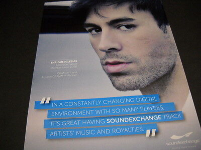 ENRIQUE IGLESIAS for Sound Exchange 2015 PROMO POSTER AD mint condition
