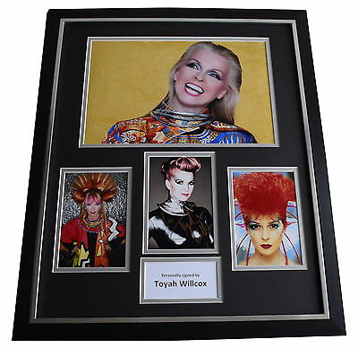 Toyah Wilcox SIGNED Framed Photo Autograph Huge display Music AFTAL & COA