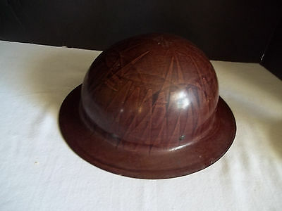 C Vintage Willson Full Brim Metal Safety Hard Hat Helmet With Liner