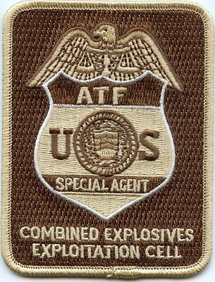 ATF COMBINED EXPLOSIVES Bomb EXPLOITATION CELL WASHINGTON DC brown POLICE PATCH