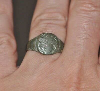 Ancient Authentic Roman Empire Soldier Legionary Bronze Wearable Ring Sz US 10.5