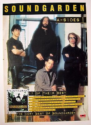 """SOUNDGARDEN """"A-SIDES"""" NEW ZEALAND PROMO POSTER - Group By Large Windows"""
