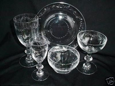 10 WATER GOBLETS MARCELLA by HAWKES CUT GLASS ANTIQUE