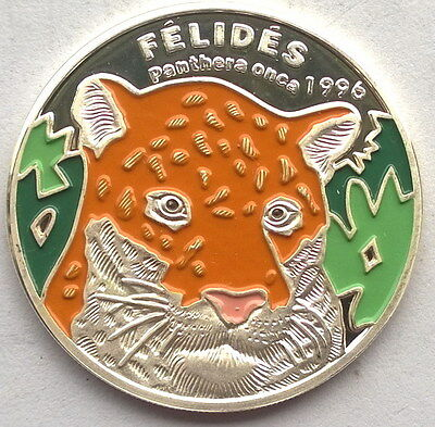Congo 1996 Panther 1000 Francs Colour Silver Coin,Proof