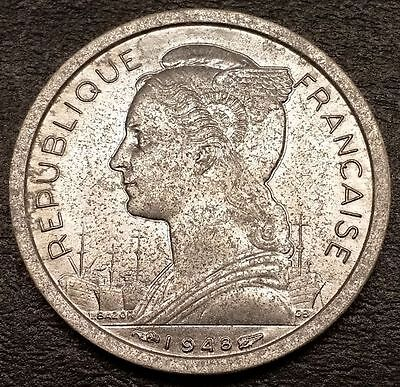 French Africa Reunion 1 Franc Coin - Nice Grade