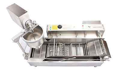 Automatic donut maker,donut frying machine with 3 sizes moulds,counter, conveyer