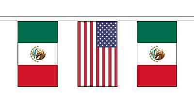 Mexico Friendship 14 Flag 5m Knitted Polyester Diplomatic Bunting