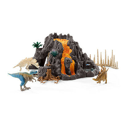 Schleich 42305 Giant Volcano With T-Rex (Dinosaurs) Plastic Figure