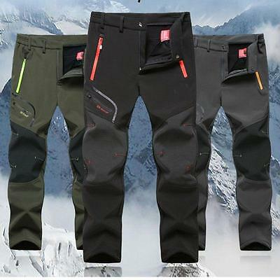 Fashion Mens Soft shell Outdoor Pants Thick Casual Combat Hiking Trousers