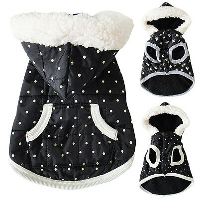 Pet Clothes for Small Dog Cat Fleece Winter Vest Coat Jacket Hoodie Clothing New