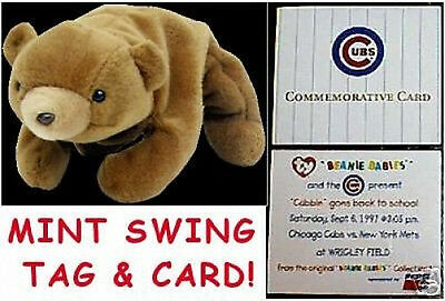 TY BEANIE BABY Cubbie BEAR 9/6/97 SPORTS COMMEMORATIVE! Cubs Mets at Wrigley