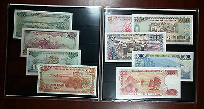 Banknotes Of Vietnam Collection In Souvenir Booklet - Mint Condition Bills