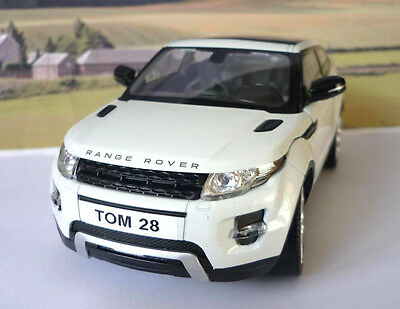 PERSONALISED PLATES 1/24 Larger RANGE ROVER EVOQUE Boys Toy Model Diecast Boxed