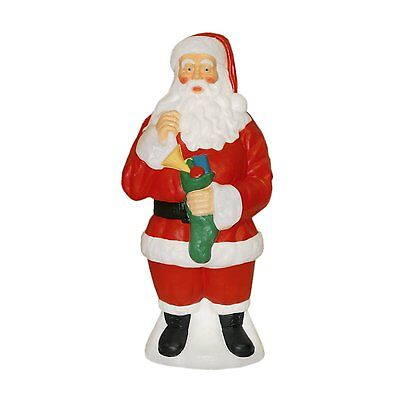 New Traditional Santa Blow Mold Plastic Yard Christmas Decor outdoor Lighted 40""