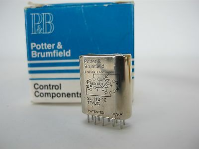 Potter & Brumfield SL-11D-12  Miniature Latching Relay 12VDC
