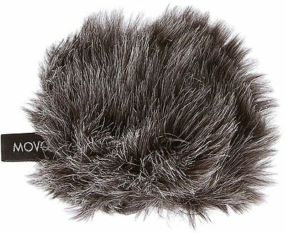"""Movo WS-G1 Wool Furry Windscreen Cover for Compact Microphones up to 2.5"""" X 40mm"""