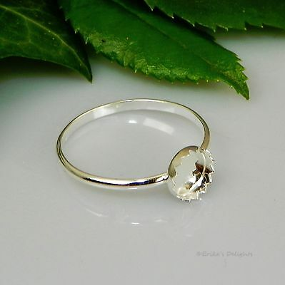 Round Fancy Cabochon (Cab) Solitaire Sterling Silver RING Setting