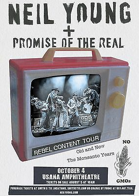 "Neil Young/promise Of The Real ""rebel Content Tour"" 2016 Slc Concert Poster"
