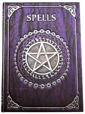 Luna Lakota Purple Embossed Spell Journal Grimoire BOS  Wicca Pagan