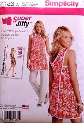 WRAP AROUND BEACH COVER-UP*TUNIC*PANTS Simplicity Pattern 1133 NEW Misses 6-18