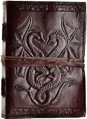 Double Dragon Handmade Leather Journal Grimoire (BOS)