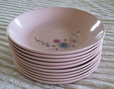 "10 Mid Century Taylor Smith and Taylor Versatile Mardi Gras 8"" Coupe Soups"