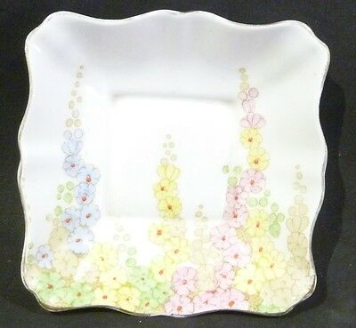 Royal Standard DIANA Dish,12 cm Square,3 cm deep, fluted edge,floral