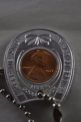 """""""Keep Me And Never Go Broke"""" Good Luck Penny With 1977 Lincoln Cent"""
