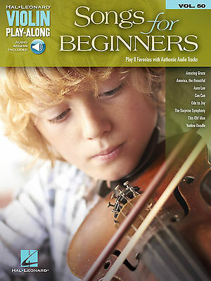 Songs For Beginners Violin Play-Along Sheet Music Song Book