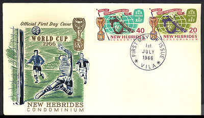 1966 New Hebrides - World Cup - Fdc - Cover - J41
