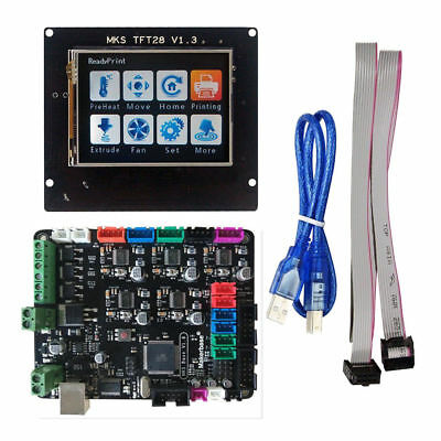 """MKS Base V1.5 Controller Board+2.8"""" TFT LCD Touch Screen For 3D Printer New"""