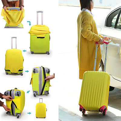 Durable Travel Stretch Fabrics Solid Luggage Protective Cover Case Dustproof Bag
