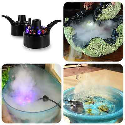 Colorful LED Light Ultrasonic Mist Maker Fogger Water Fountain Pond Decoration