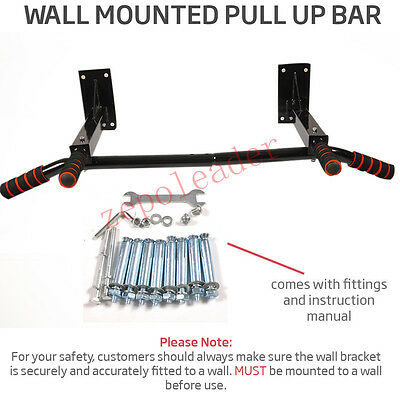 Wall Mounted Pull Up Bar Gym Chinning/Chin Heavy Duty Home Workout Fitness Rack