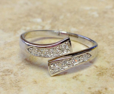 Silver Plated Crystal Adjustable Toe Ring/Finger Ring Foot Jewelry Size 7