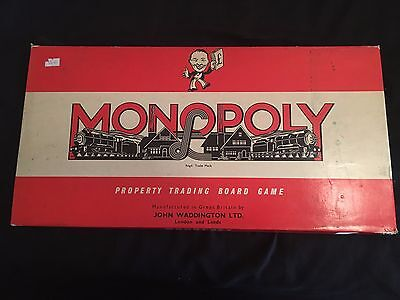 Monopoly Vintage Board Game By Waddingtons