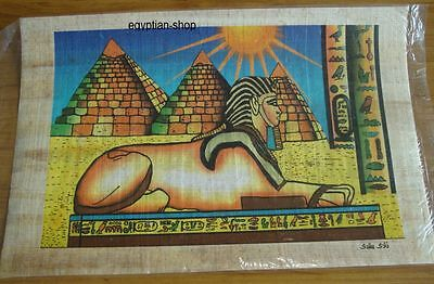 Egyptian  PAPYRUS -Sphinx & Great Pyramids of Giza -. 30cm  x 20cm   #217