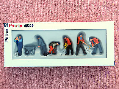 Preiser 65336: O-Scale Track Workers - Six Figures - Excellent - Boxed