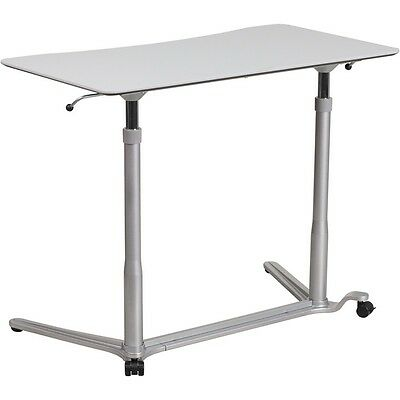 Flash Furniture Sit-down Stand-up Light Gray Computer Desk With 37.5w Top