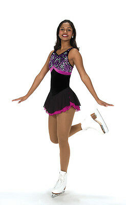NEW COMPETITION FIGURE SKATING DRESS Jerrys Nice at Night 211 12-14 CXL