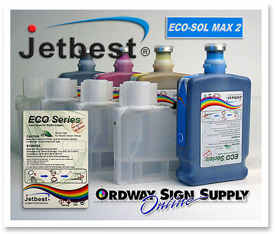 Roland Mimaki 4 Color Eco-Sol MAX 2 Compatible 500ml Ink Jetbest Bulk Ink System
