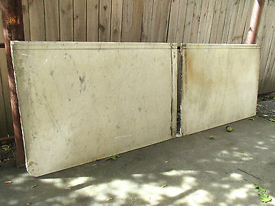 ~ 2 Pieces Antique Marble Paneling 107 Inches Total ~ Architectural Salvage ~