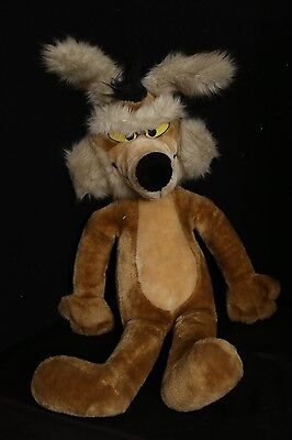"""Wile E. Coyote 24"""" Vintage 1993 Big Plush Toy Doll 24K Mighty Star"""