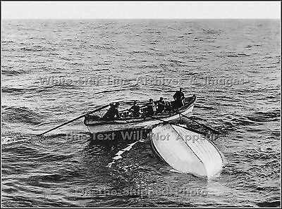Original Restored View Of Titanic's Overturned Lifeboat B, Mid April, 1912