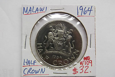 1964 Malawi Half Crown Free Shipping Within Usa W109