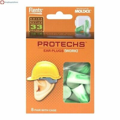Flents Protechs Ear Plugs 8 pair with case, 0.0598 Pound